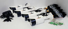 LOREX Surveillance Camera Security System Outdoor Weatherproof cctv 960h LOT X 4