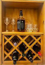 Wine Spirits Rack and Cabinet Solid Wood Pine Furniture Storage AMAZING PRICE