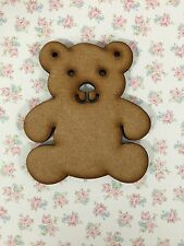 10 X Wooden Mdf Teddy Bear Blank Craft Shapes Bunting Decoupage