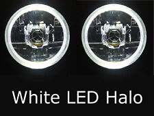 "Mazda RX2 RX3 RX4 RX5 RX7 808 929 121 WHITE LED Halo 7"" Round headlights rotary"
