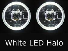 "Mazda RX2 RX3 RX4 RX5 RX7 808 929 121 WHITE LED Halo 7"" Round headlights rotary"