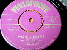 "THE KING BROTHERS - WAKE UP LITTLE SUSIE / WINTER WONDERLAND    7"" VINYL"