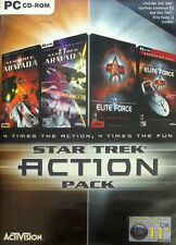 STAR TREK ACTION PACK PC CD-ROM INC. ARMADA 1 & 2 & ELITE FORCE FREE POST