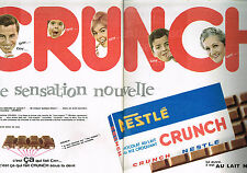 PUBLICITE ADVERTISING 035  1962  NESTLE  le chocolat CRUNCH  ( 2p)