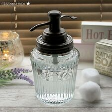 Kilner Vintage Preserve Jar Soap Dispenser in Glass with Bronze Water Well Pump