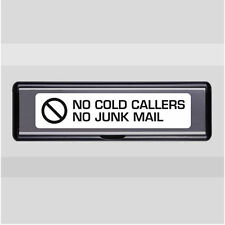 No Junk Mail / Cold Callers Letterbox Sticker - Transfer - Decal