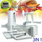 OZ i Kitchen Cutter Raw Food Turner Potato 3in1 Fruit Vegetable Spiral Slicer
