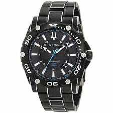 Bulova Men's 98B153 Precisionist Champlain Steel + black ion Watch NEW!!!