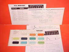1955 1956 MERCURY MONTEREY CUSTOM MONTCLAIR CONVERTIBLE MEDALIST PAINT CHIPS