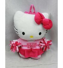 "NWT Sanrio Hello Kitty Plush Doll Backpack 15"" Cheer Leader Kitty Newest Style"
