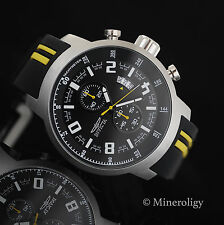 Invicta S1 Rally Chronograph Tachymeter Black Dial Silver Tn SS Mens Sport Watch