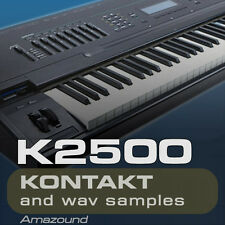 K2500 for KONTAKT 260+ .nki PATCHES 20 DRUMKITS 3900 WAV SAMPLES 24BIT