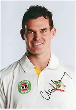 CLINT MCKAY - Signed 12x8 Photograph - AUSTRALIA CRICKET