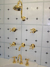 Manor House  Dorf Gold. Shower Bath Basin sets. Brand New, Made of Solid Brass.