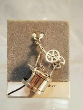 """Sterling Silver 7/8"""" Tall Smoker BBQ Grill Moving Legs! Pendant Charm NOS New"""