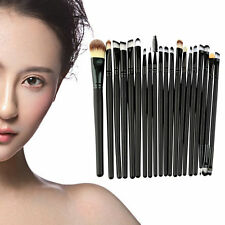 20 Pcs Makeup Powder Foundation Eyeshadow Eyeliner Lip Cosmetic Brushes Set BY