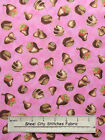 Quilting Treasures Hugs & Kisses 22553 Chocolate Candy Pink Cotton Fabric YARD