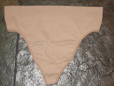 SOMA Nude Smooth Thong Nylon/spandex Panties Size 3 (10) NWOT