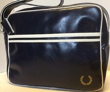 Fred Perry Classic Shoulder Bag, Navy Color, One Size, NEW