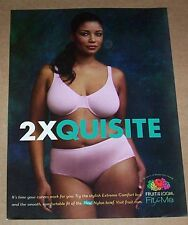 2011 ad -Fruit of the Loom- Fit for Me full-figured Girl Panties Bra lingerie AD