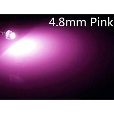 10 Stk.a0309 pink 4,8mm LEDs  Superhelle 5000mcd  3LM 4.8mm StrawHat LEDs