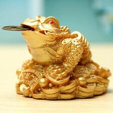 Feng Shui Monnaie Fortune Chinois Crapaud Grenouille Or Pr Maison Magasin Décor