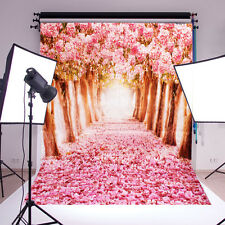 5x7FT Flower Sakura Road Baby Studio Prop Photography Background Photo Backdrop