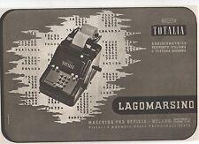 Pubblicità epoca TOTALIA LAGOMARSINO ADDIZIONATRICE advert werbung publicitè