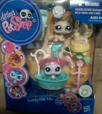 Littlest Pet Shop Squeaky Clean Pets Kitty Cat 1444 & Seal 1445  (H2)
