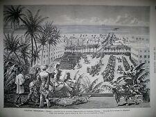 COLONIES FRANCAISES SENEGAL SAINT-LOUIS REVUE GENERAL PELISSIER GRAVURES 1875