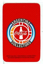 Single Playing Card NEW, Coca Cola Collectors Covention Argentina 2008 Red