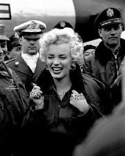MARILYN MONROE IN KOREA, KOREAN WAR 8X10 GLOSSY PHOTO  1950's Celebrity M290