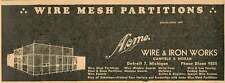 1946 Acme Wire & Iron Works Canfield Moran Detroit Ad