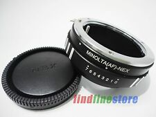 Adapter for Sony Alpha Minolta AF MA Lens to Sony E NEX 3 NEX 5 NEX 7 5N + CAP