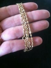 "14K Solid Yellow Gold Twisted Nugget Chain Necklace 4.5 Grams 18.5"" Long"