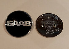 SAAB NEVS BLACK EDITION BONNET BADGE 50MM BRAND NEW PART # 4522884 9-3 9000 900