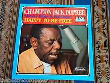 Champion Jack Dupree Baker Singer Happy To Be Free 1973 Original plays VG++
