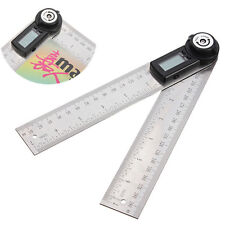 2-in-1 Digital Angle Finder Meter Folding Ruler Measurer 200MM 360° Protractor