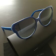 Marc by Marc Jacobs MMJ369/S Electric Blue Plastic Frame Round Sunglasses NWT