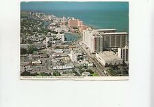 BF27937 miami beach florida collins avenue and ocean front USA  front/back image