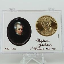 2008 $1 President Andrew Jackson Uncirculated Coin in Gift Case Edge Lettering