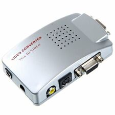 PC To TV Converter VGA to PAL Compo RCA + S-Video + VGA