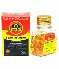 Cod Liver Oil 500 capsules by Seven Seas, Vitamin A & D with Long Expiry