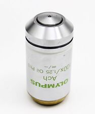 Olympus Ach 100x 1.25 Oil Ph3 Phase Contrast Microscope Objective CX AX BX IX