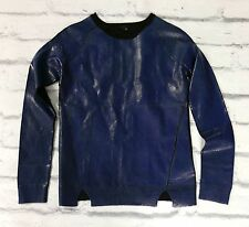 Arty: Edun  $348 Blue & Black Foil Printed Sweater NWT Sz XS