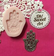 Hamsa Hand of Fatima Silicone Mold Food clay Cake wax soap cupcake topper FDA