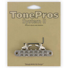 NEW Tone Pros T3BP-N Nashville Tunematic Bridge for Gibson Les Paul - NICKEL