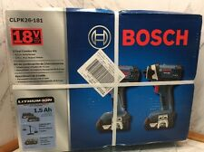 Bosch 18V 2.0Ah Li-Ion Drill and Impact Driver Combo Kit CLPK26-181 New