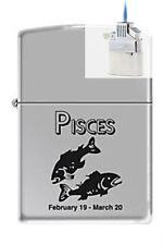 Zippo 9284 horoscope pisces Lighter & Z-PLUS INSERT BUNDLE