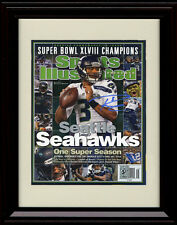 Framed Russell Wilson Sports Illustrated Autograph Print - Super Bowl Champs